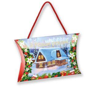 новогодний подарок сумочка с конфетами