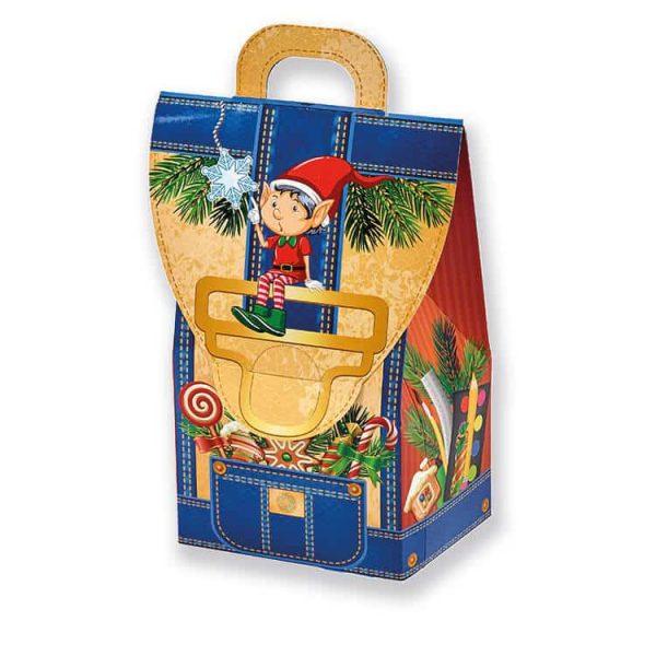 Рюкзачек с конфетами на новый год для детей