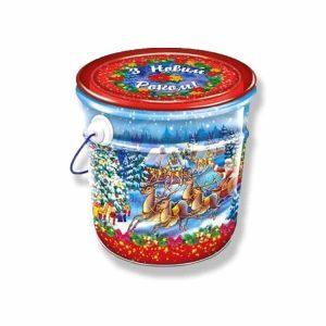 новогоднее ведро конфет подарок на новый год