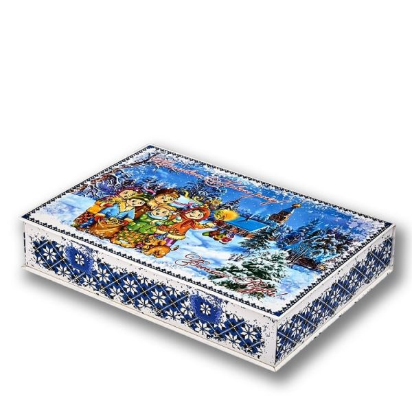 новогодний подарок коробка конфет в украиском стиле