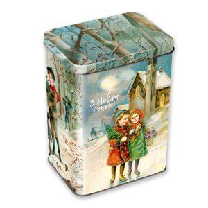 сладости в металлической коробке
