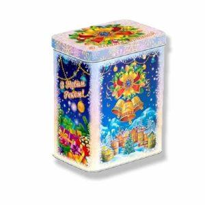 новогодние подарки в жестяной коробке