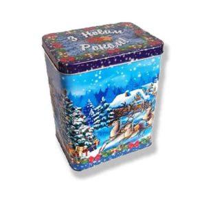 новогодняя коробочка с конфетами