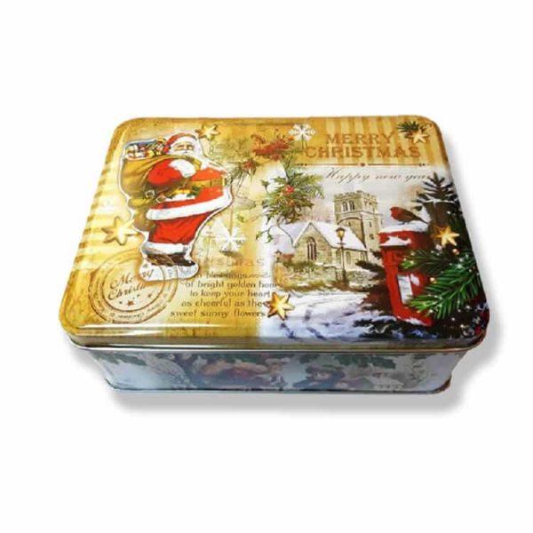 Жестяная коробочка с конфетами