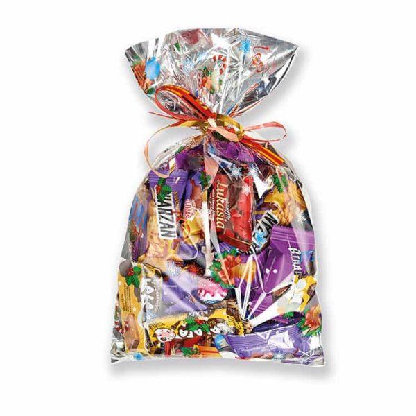 Пакет наполненный конфетами
