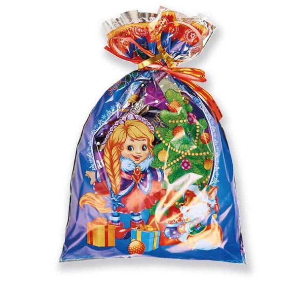 Новогодний пакет с конфетами
