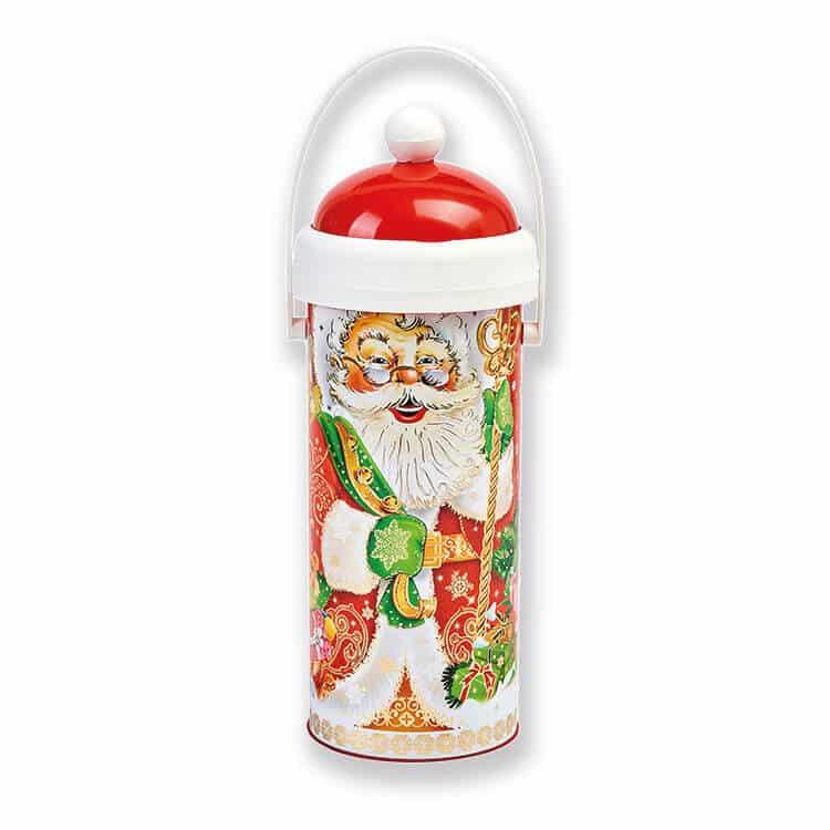 Тубус Дед Мороз новогодний с конфетами